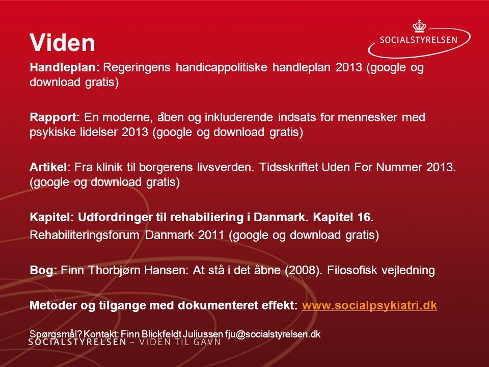 Viden Handleplan: Regeringens handicappolitiske handleplan 2013 (google og download gratis)