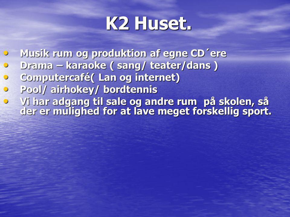 K2 Huset. Musik rum og produktion af egne CD´ere