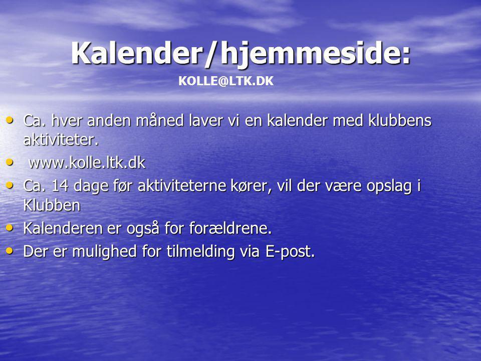 Kalender/hjemmeside: