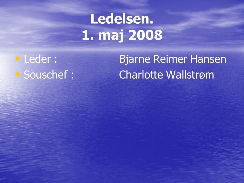 Ledelsen. 1. maj 2008 Leder : Bjarne Reimer Hansen