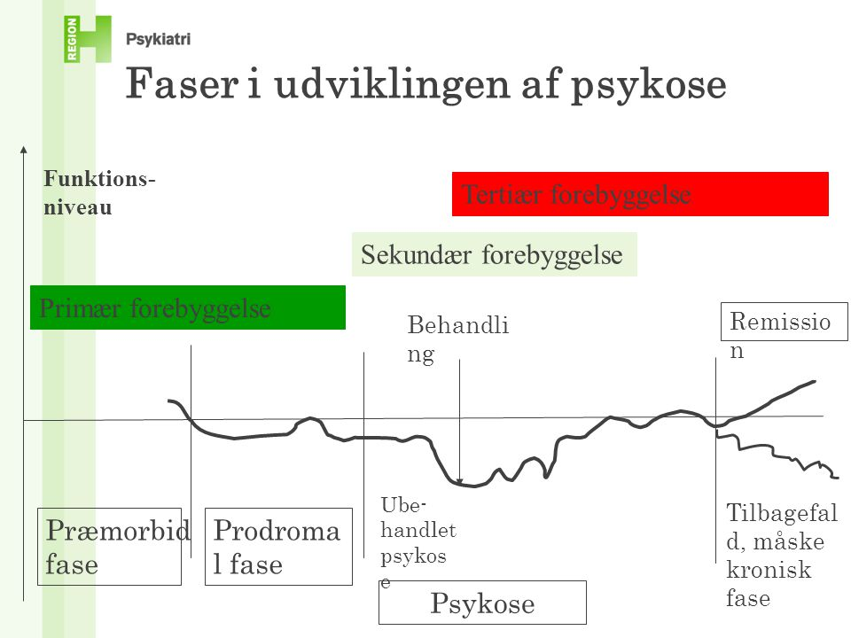 Faser i udviklingen af psykose