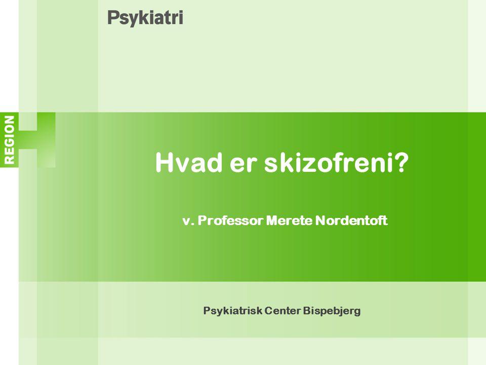Hvad er skizofreni v. Professor Merete Nordentoft