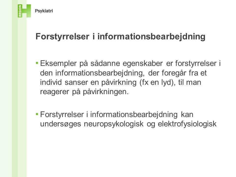 Forstyrrelser i informationsbearbejdning