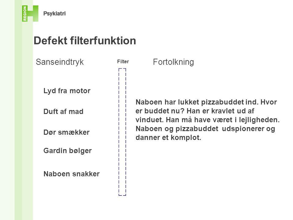 Defekt filterfunktion