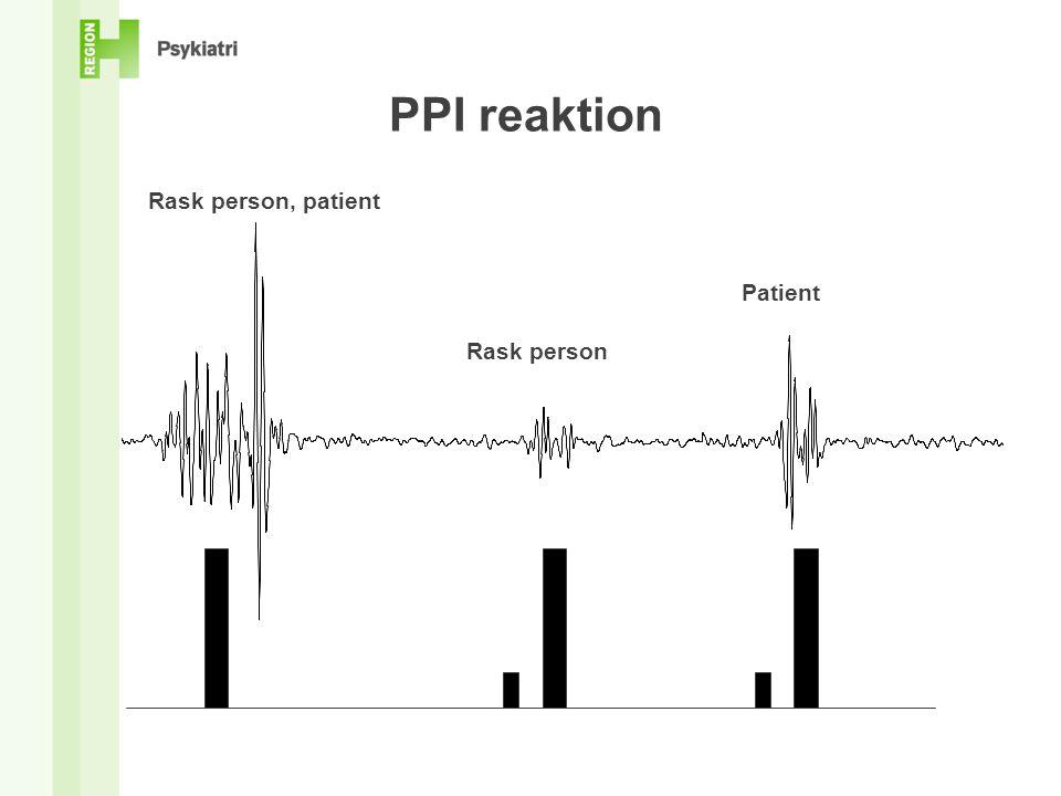 PPI reaktion Rask person, patient Patient Rask person