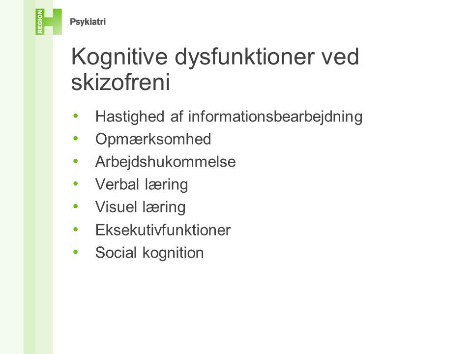 Kognitive dysfunktioner ved skizofreni