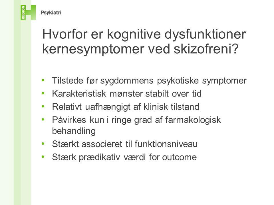Hvorfor er kognitive dysfunktioner kernesymptomer ved skizofreni