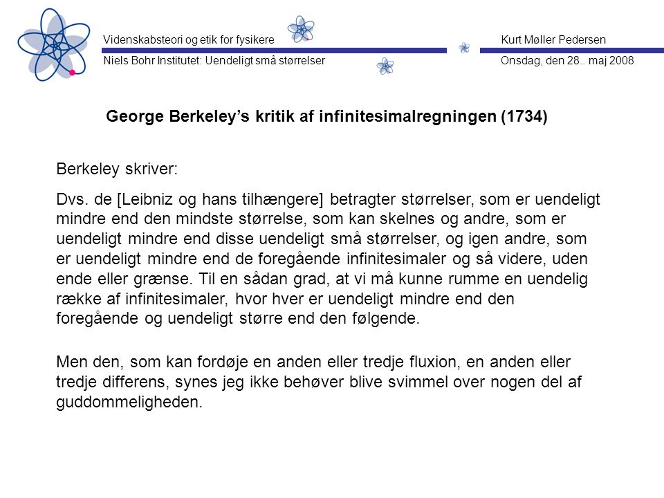 George Berkeley's kritik af infinitesimalregningen (1734)