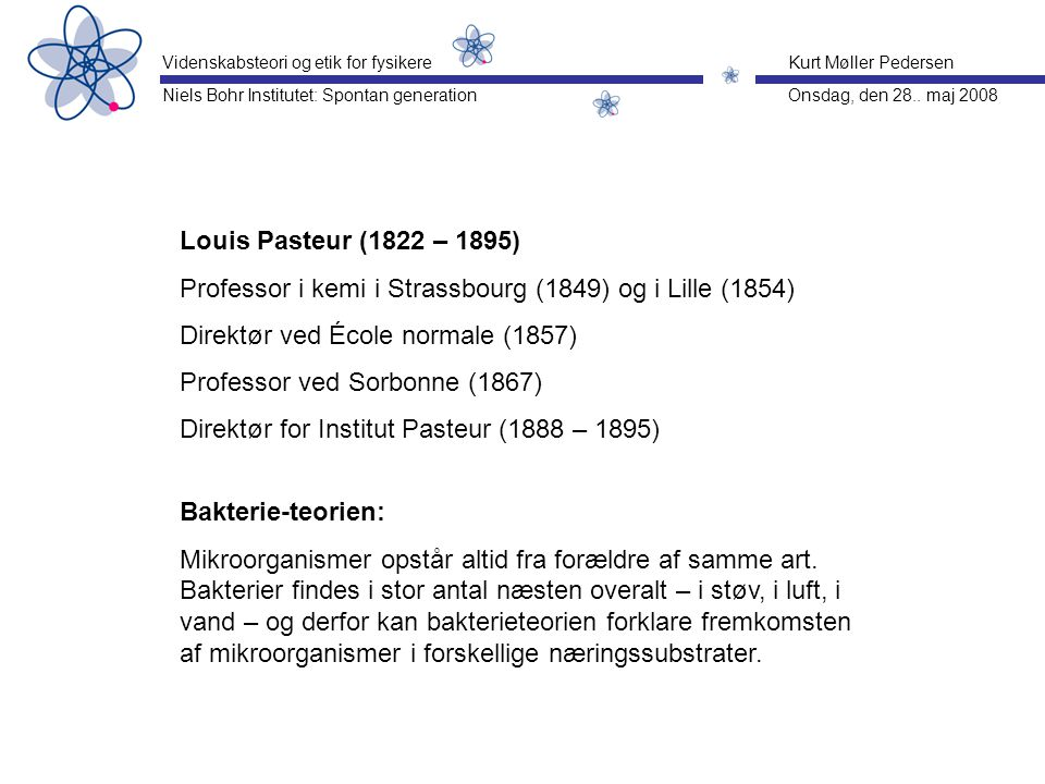 Professor i kemi i Strassbourg (1849) og i Lille (1854)
