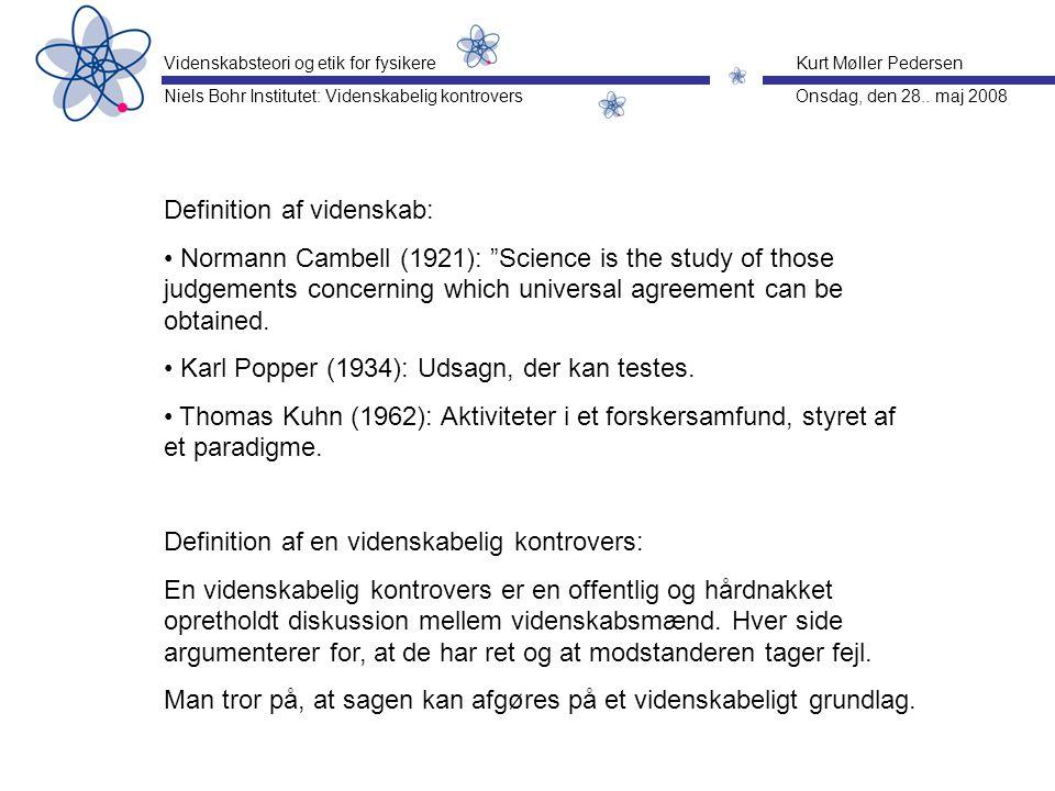 Definition af videnskab: