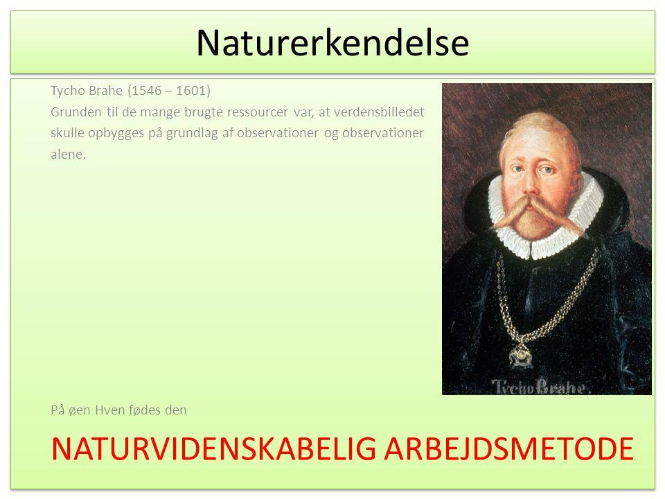 Naturerkendelse NATURVIDENSKABELIG ARBEJDSMETODE