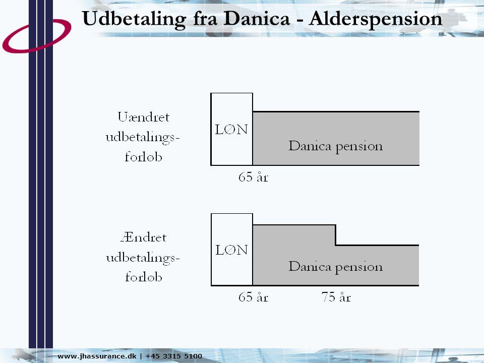 Udbetaling fra Danica - Alderspension
