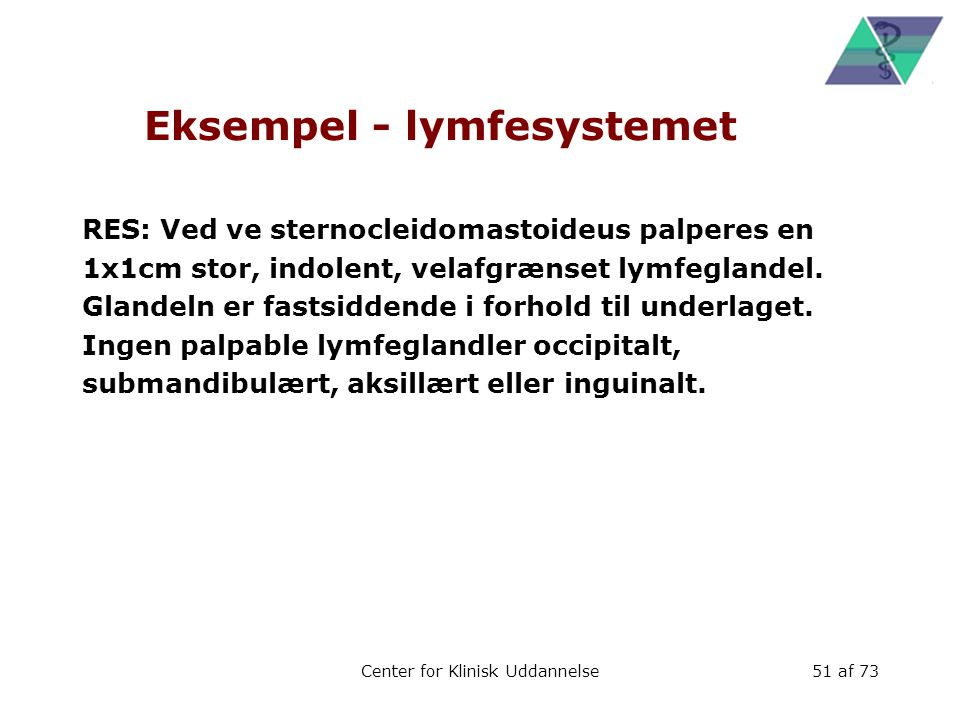 Eksempel - lymfesystemet