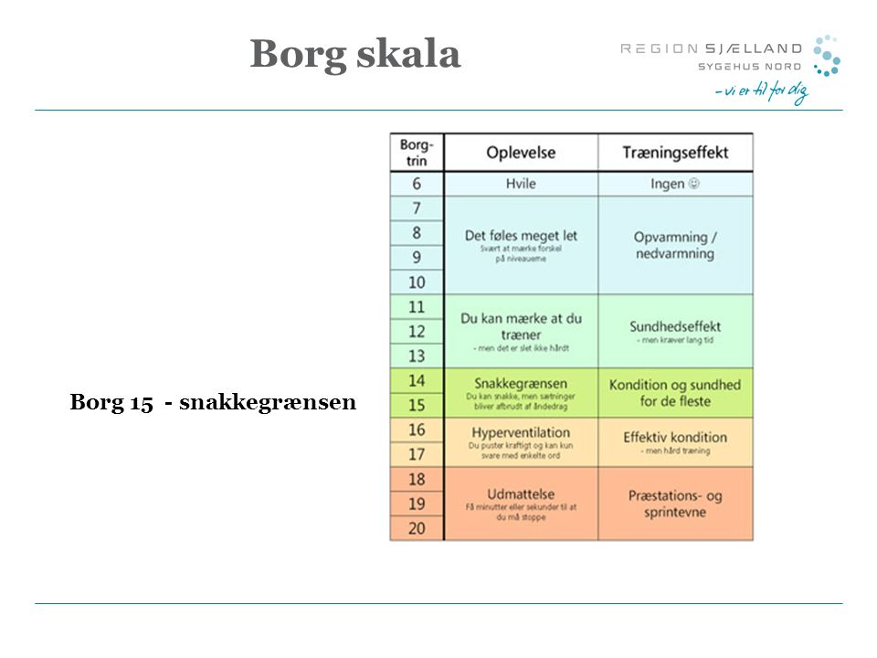 Borg skala Borg 15 - snakkegrænsen