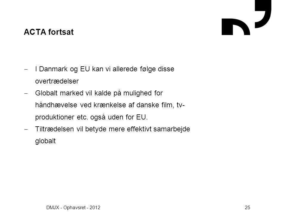 ACTA fortsat I Danmark og EU kan vi allerede følge disse overtrædelser