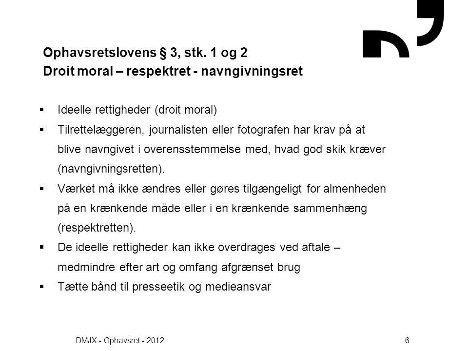 Ophavsretslovens § 3, stk