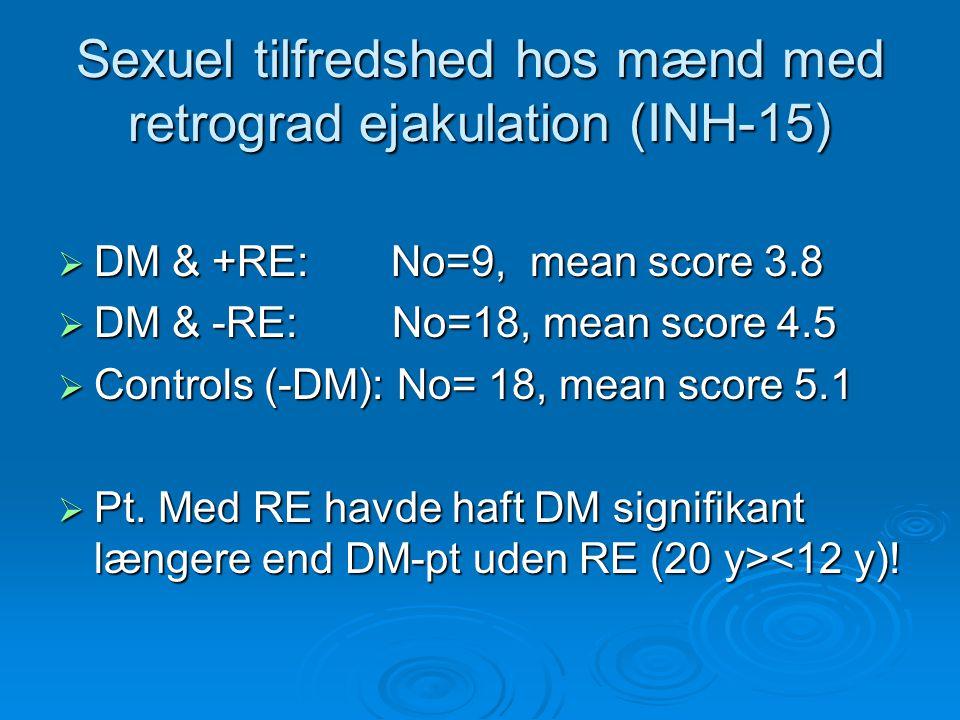 Sexuel tilfredshed hos mænd med retrograd ejakulation (INH-15)