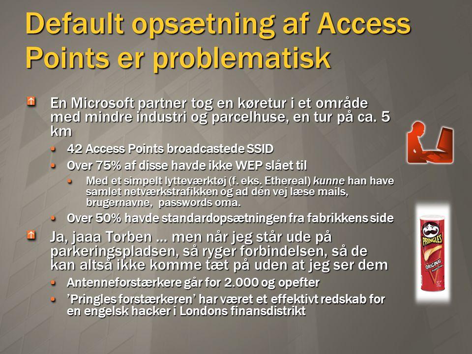 Default opsætning af Access Points er problematisk