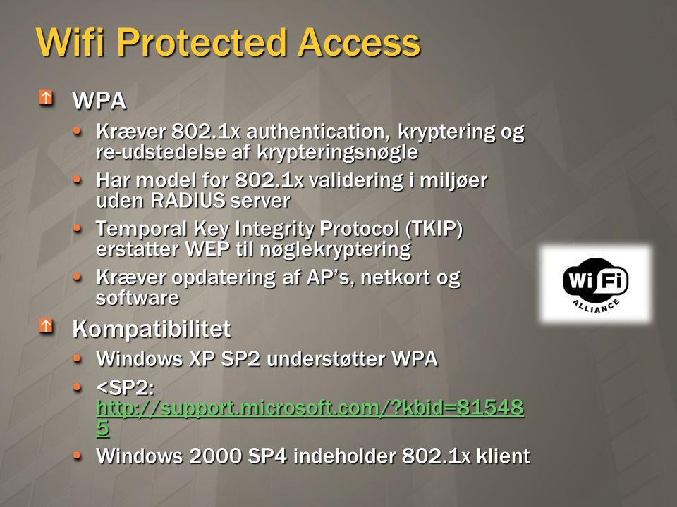 Wifi Protected Access WPA Kompatibilitet