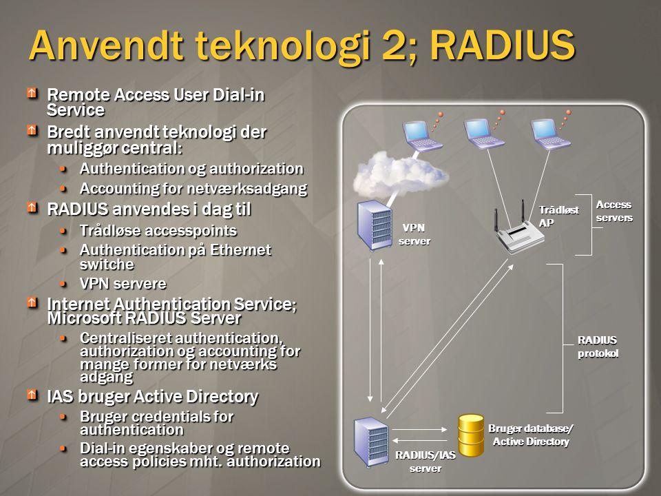Anvendt teknologi 2; RADIUS