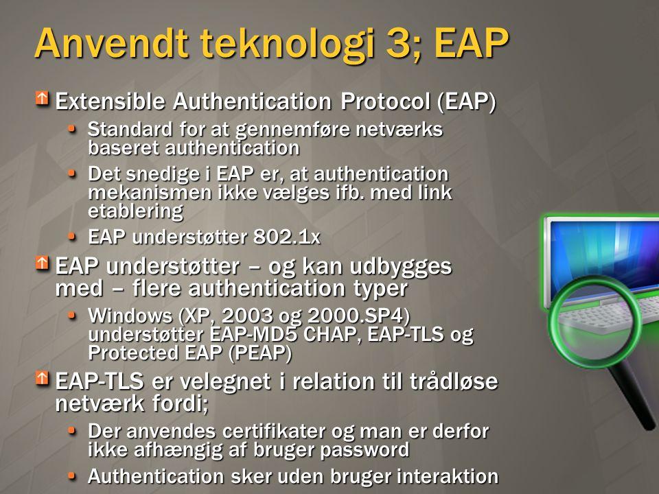 Anvendt teknologi 3; EAP