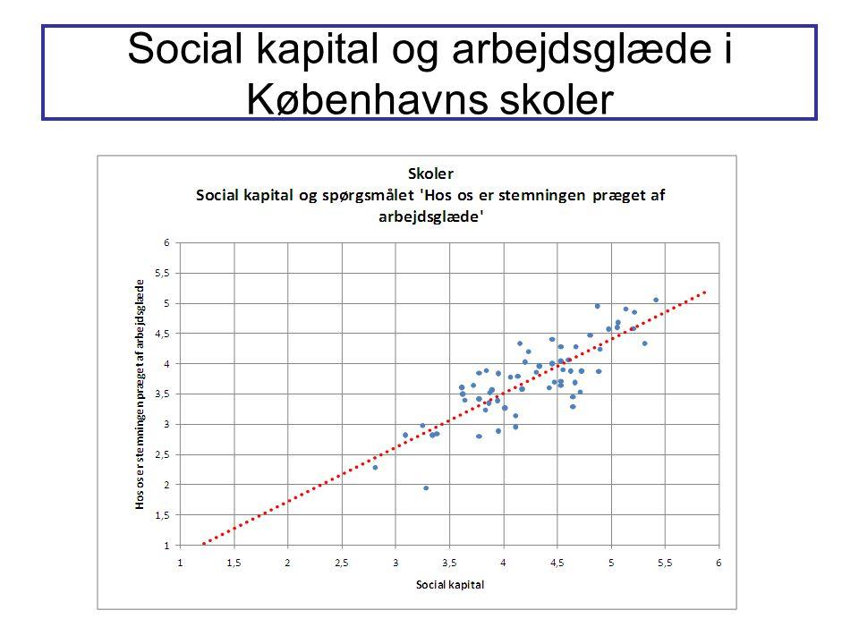 Social kapital og arbejdsglæde i Københavns skoler