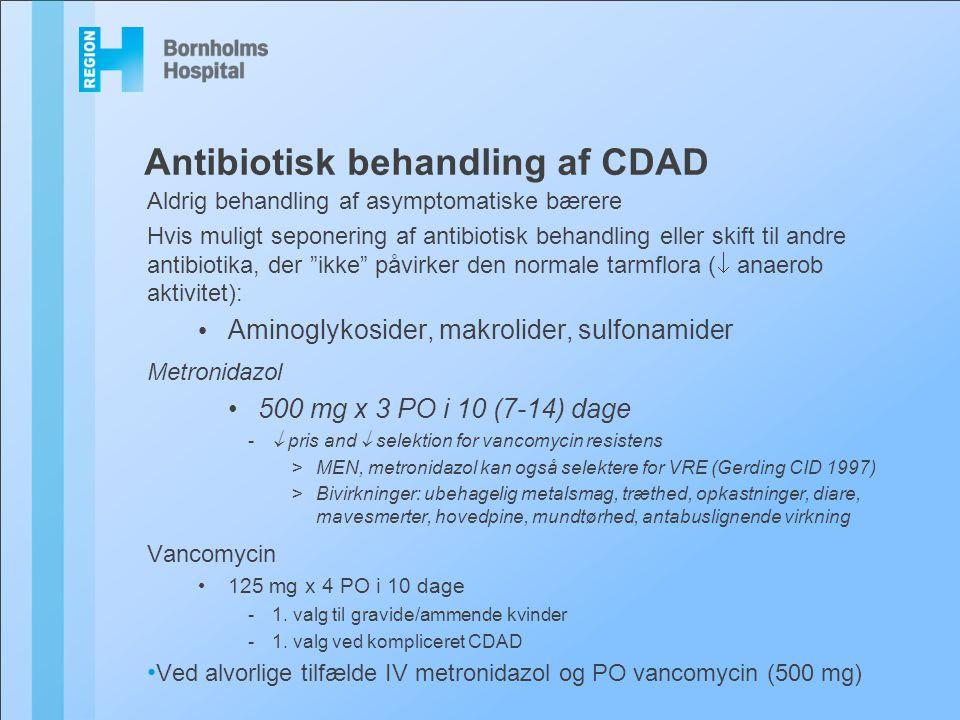 Antibiotisk behandling af CDAD