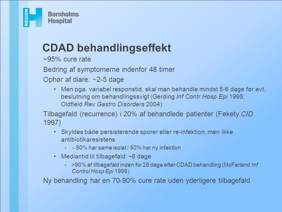 CDAD behandlingseffekt