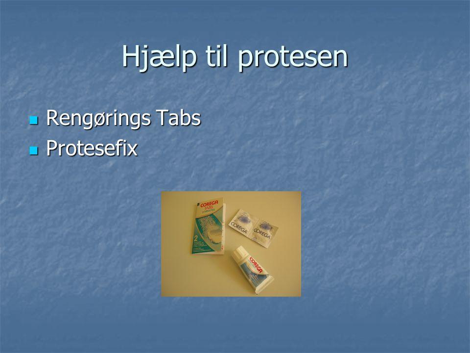 Hjælp til protesen Rengørings Tabs Protesefix