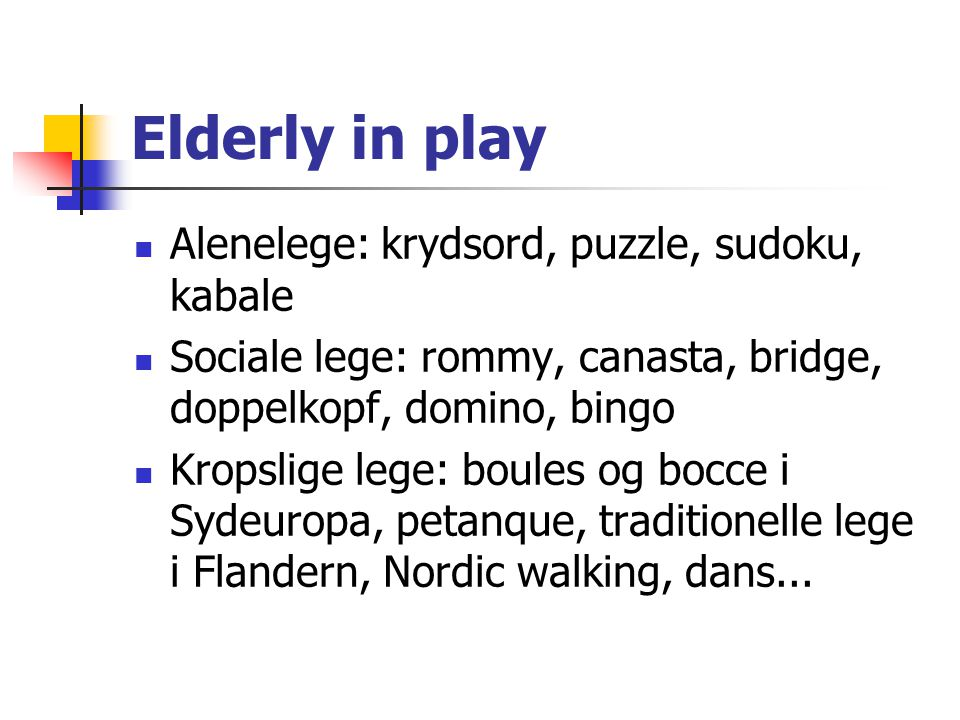 Elderly in play Alenelege: krydsord, puzzle, sudoku, kabale