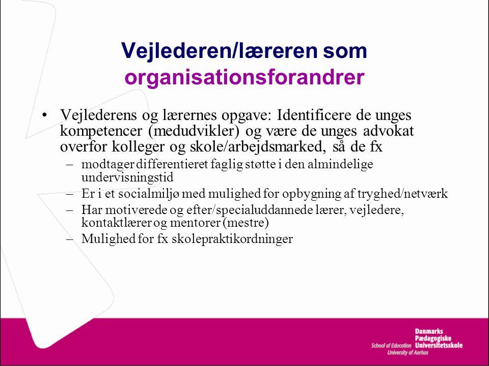 Vejlederen/læreren som organisationsforandrer