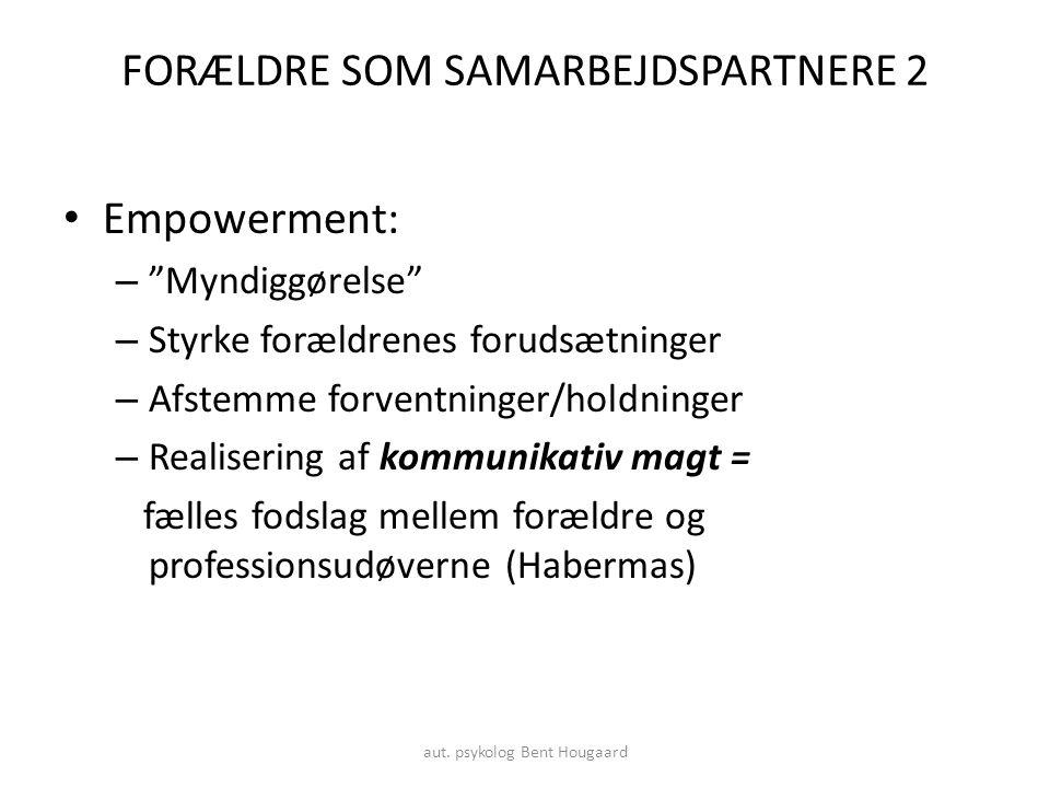 FORÆLDRE SOM SAMARBEJDSPARTNERE 2