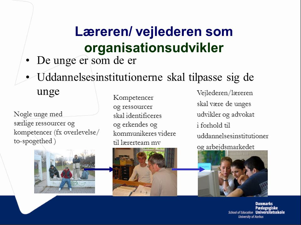 Læreren/ vejlederen som organisationsudvikler