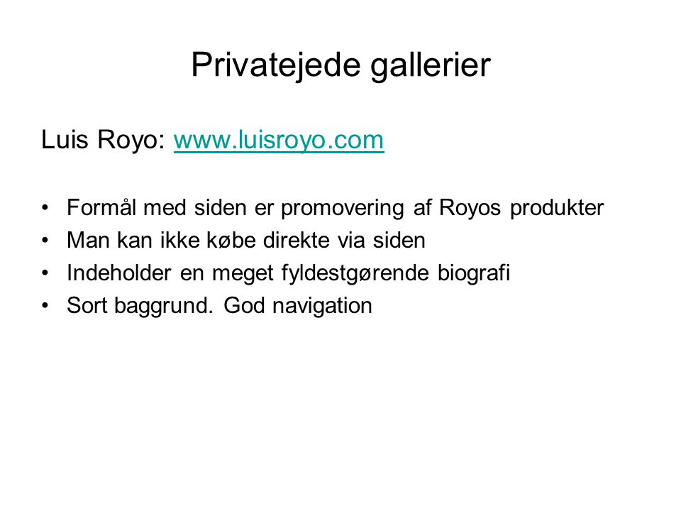 Privatejede gallerier