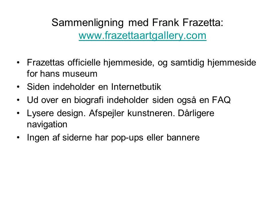 Sammenligning med Frank Frazetta: www.frazettaartgallery.com
