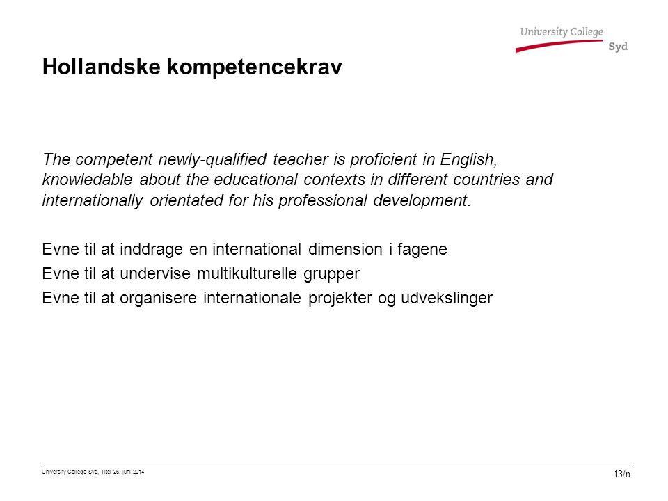 Hollandske kompetencekrav