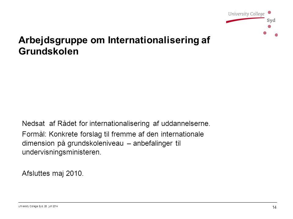 Arbejdsgruppe om Internationalisering af Grundskolen