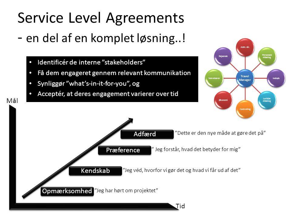 Service Level Agreements - en del af en komplet løsning..!