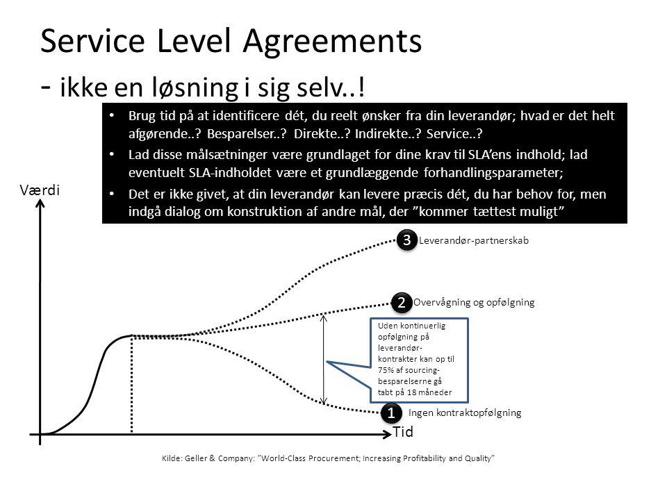 Service Level Agreements - ikke en løsning i sig selv..!