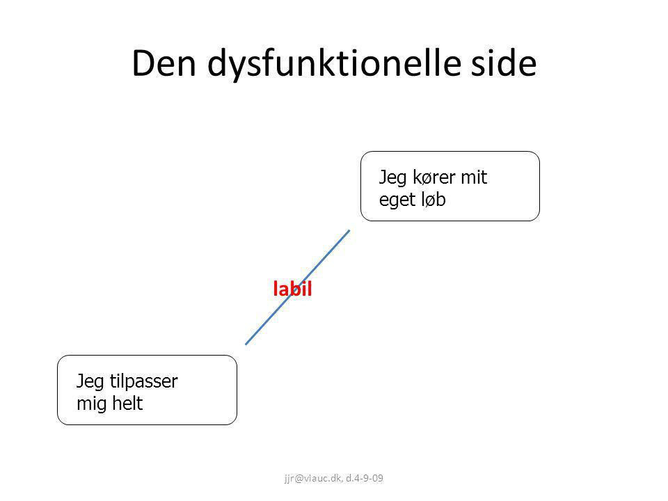 Den dysfunktionelle side