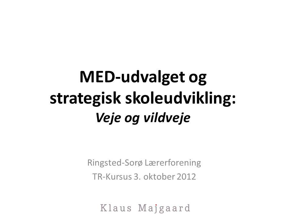 MED-udvalget og strategisk skoleudvikling: Veje og vildveje