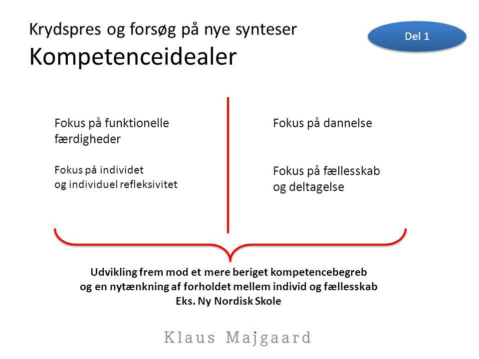 Krydspres og forsøg på nye synteser Kompetenceidealer