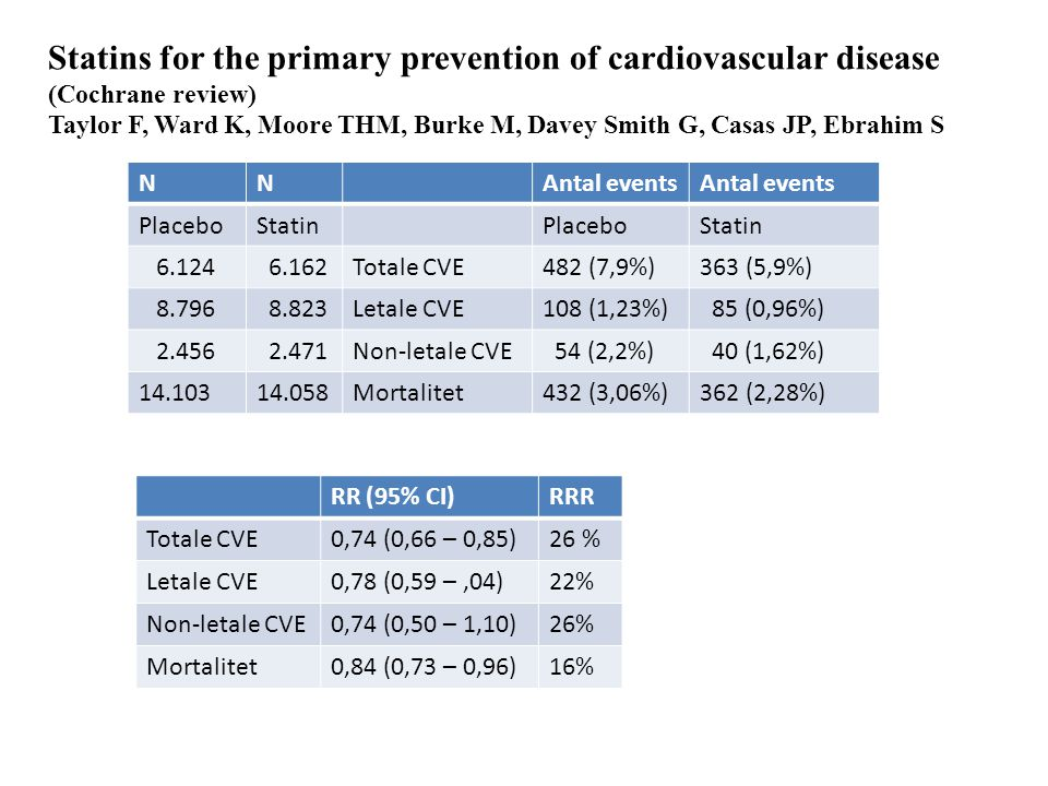 Statins for the primary prevention of cardiovascular disease