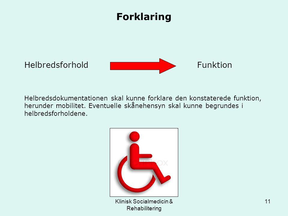 Klinisk Socialmedicin & Rehabilitering