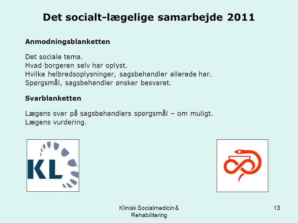 Det socialt-lægelige samarbejde 2011