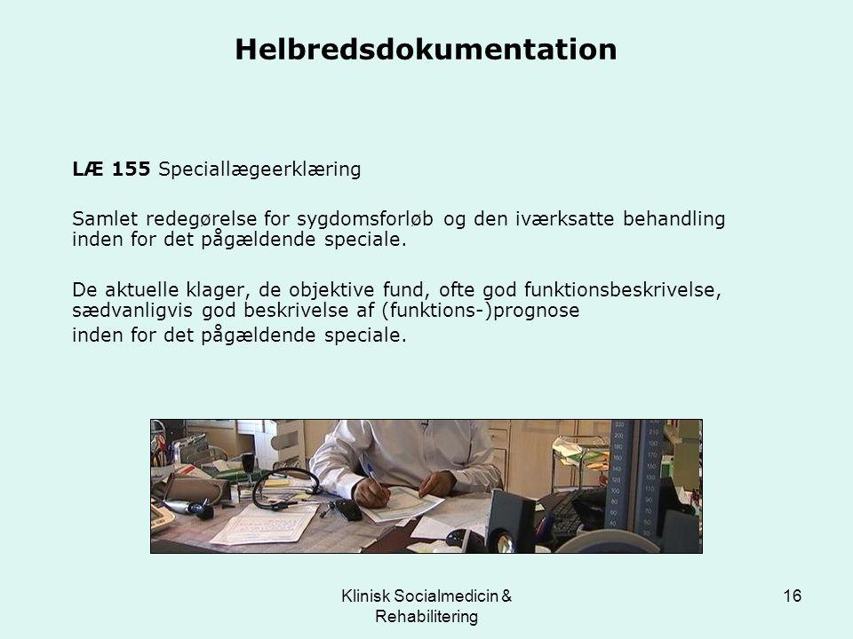 Helbredsdokumentation