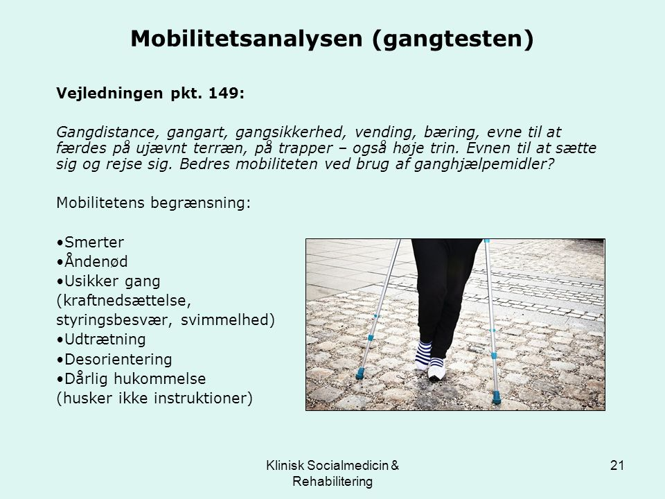 Mobilitetsanalysen (gangtesten)