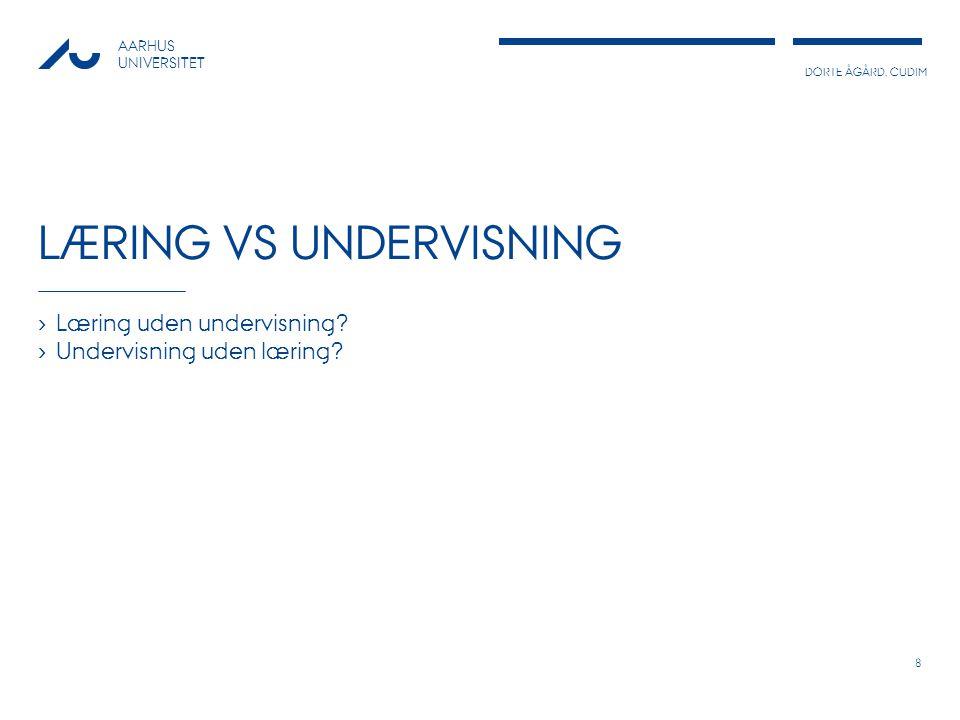 Læring vs undervisning