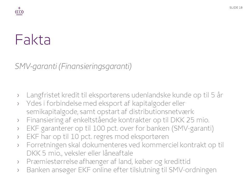 Fakta SMV-garanti (Finansieringsgaranti)