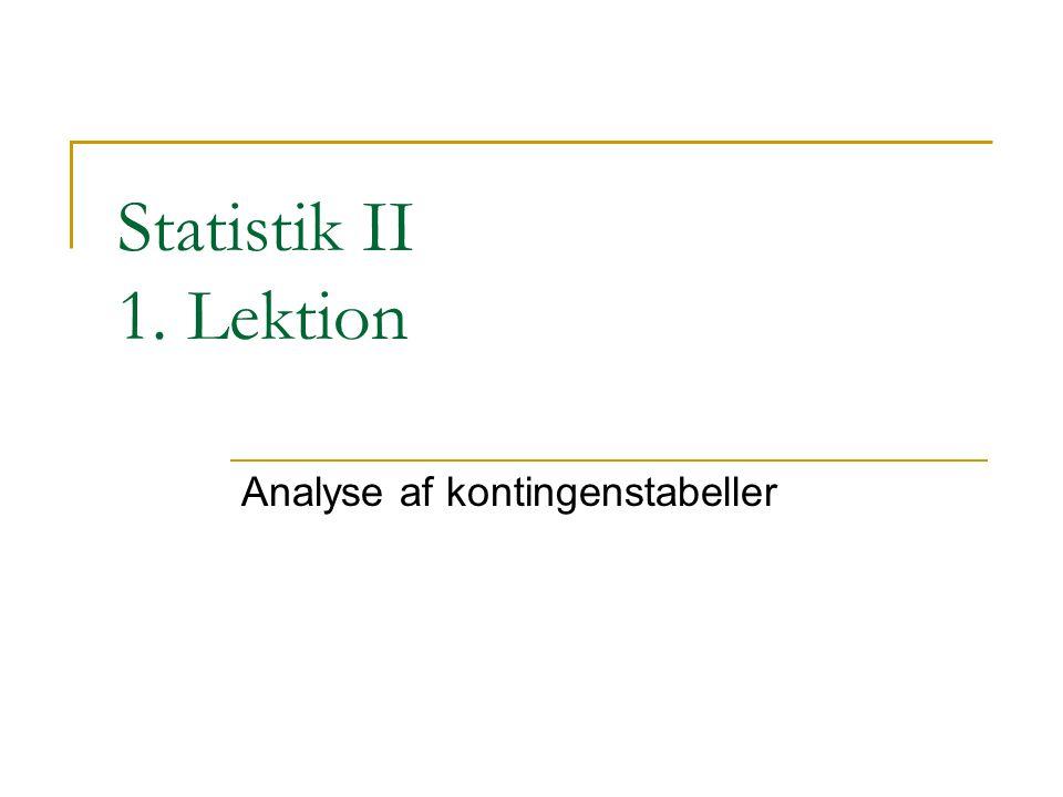 Analyse af kontingenstabeller